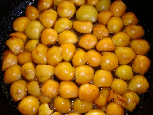 Loquats in the skillet